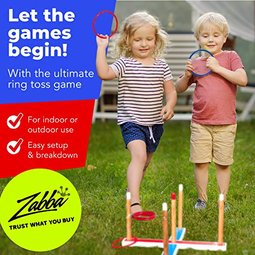 Elite Sportz Ring Toss Games for Kids - Indoor Holiday Fun or Outdoor Yard Game for Adults & Family - Easy to Set Up with Compact Carry - Backyard Toys & Easter Gifts