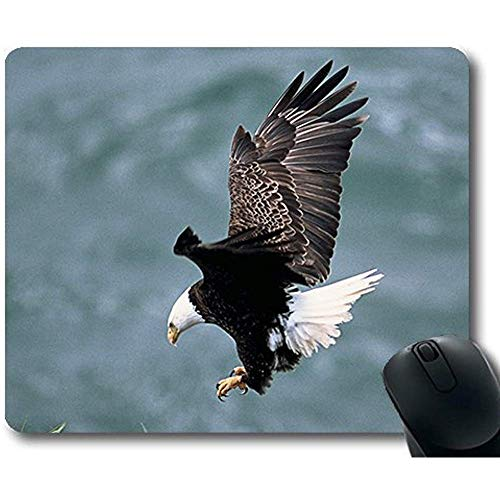 Precision Lock Edge Mouse Pad Eagles Nest Vliegende Kale Adelaar Vogel Predator Gaming Mouse Pad Muis Mat Voor Mac Of Computer - 9.4x7.8 inch