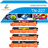 True Image Compatible Toner Cartridge Replacement for Brother TN227 TN223 HL-L3210CW HL-L3270CDW HL-L3290CDW HL-L3230CDW MFC-L3770CDW MFC-L3750CDW MFC-L3710CW (Black Cyan Yellow Magenta, 4-Pack)