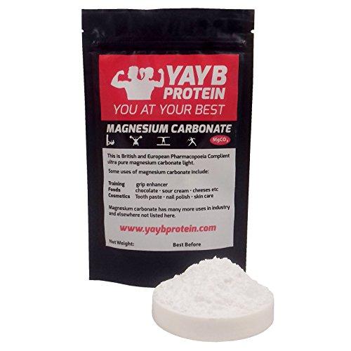 YAYB Carbonato de magnesio 50 g UK/EU Grado Levantamiento de peso en...