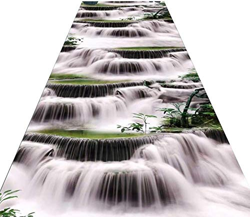 LIL Carpet Runner 3D Stairs landscape painting Runner Rug Long Plastic for Hallway, Non-Slip Rug Ideal for Kitchen, Bedroom, stairs, corridor,Home Hotel Office Long Rug (Color : A, Size : 0.6 * 9m)