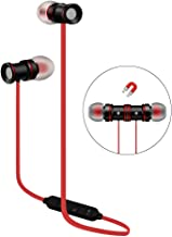 Bluetooth Stereo Earphones Sport Headset Red Compatible with LG Escape Plus