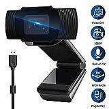 Autofocus Webcam with Microphone, Conference Web Cam for Computer, Desktop, PC, Laptop