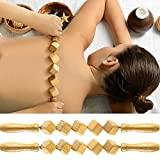 2 Pieces Wood Therapy Massage Tools, Anti Cellulite Massage Roller, Handheld Cellulite Blasters Massage for Release Cellulite Sore Muscle Blasting Wooden,Maderotherapy Stick(15.74inch)