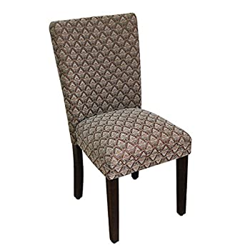 HomePop Parsons Classic Upholstered Accent Dining Chair Single Pack Blue Damask