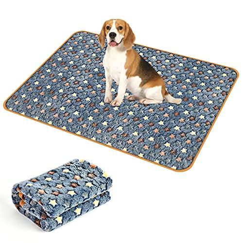 Manta para Mascotas,Manta para Perros Gatos,Mascotas Manta Suave,Adecuado para Perros, Gatos, Conejos y Otras Mascotas. (Azul, 76 x 53 cm)