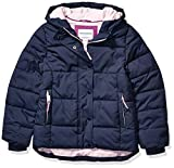 Amazon Essentials Girls' Big Heavy-Weight Hooded Puffer Coat, Navy, Medium