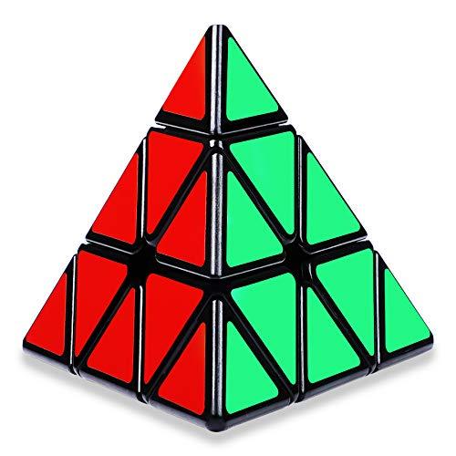 Coolzon Zauberwürfel Pyraminx Speed Magic Cube, Pyramide Magic Cube Puzzle für Kinder Jugendlichen mit PVC Aufkleber