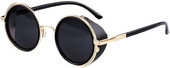 Koly Metal Resin Vintage Retro Cyber Steampunk Mirror Lens Round Women's Sunglasses (TRTAV11A, 53)