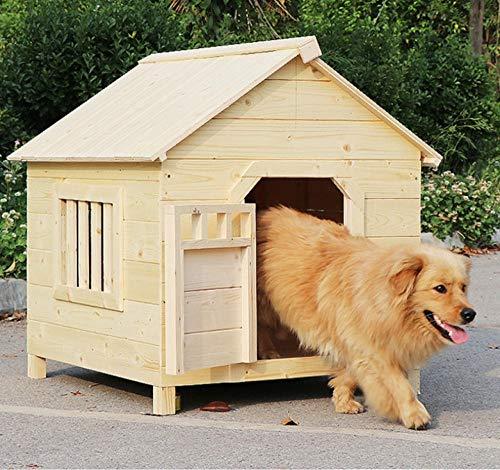 Hondenhok buiten hondenhok klein appartement groot huis verkoolde kattenvilla huisdier massief houten kooi