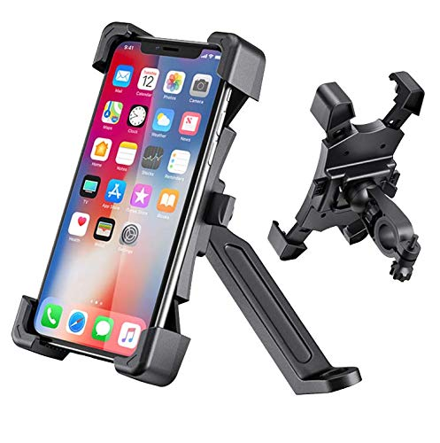 BrainWizz® Soporte moto/scooter hermético, con brazo articulado
