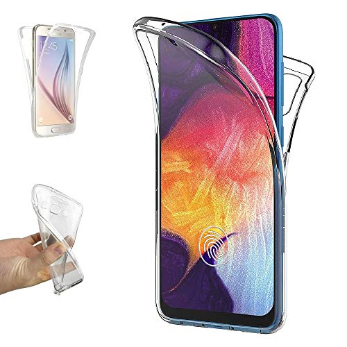 REY - Funda Carcasa Gel Transparente Doble 360º para Samsung Galaxy A50 - A50s...
