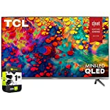 TCL 65R635 65 Zoll 6er 4K QLED Dolby Vision HDR Roku Smart-TV-Paket mit 1 Jahr erweitertem Schutzplan