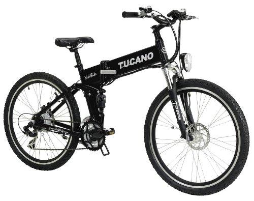 TUCANO - Marnaula HIDEBIKE MTB - Motor 250W -36V -Grado Máximo de Escalada - Bateria Extraible y con Cierre de Seguridad - Cambio Shimano Tourney 21 SP - (HIDEBIKE Negra-Black)