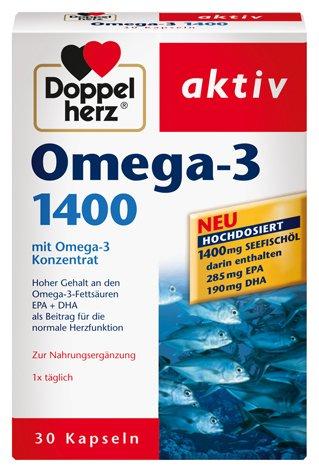 Doppelherz aktiv Omega-3 1400, 4er Pack (4 x 30 Kapseln)