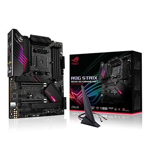 ASUS ROG STRIX B550-XE GAMING WIFI, Scheda madre Gaming AMD B550 Ryzen AM4 ATX con PCIe 4.0, 16 fasi di potenza, Lan 2.5 Gb, WiFi 6 (802.11ax), 2x M.2 con dissipatori, USB 3.2 Gen 2, RGB Aura Sync