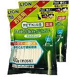 ペットキッス PETKISS 食後の歯みがきガム やわらかタイプ 超小型犬 小型犬 エコノミーパック 大容量 100g(35本入)×2個 まとめ買い