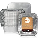 Piccoli contenitori in alluminio per conservare gli alimenti, teglie in alluminio per takeaway, vaschette in alluminio con coperchio, per cucinare al forno o per conservare alimenti - confezione da 50
