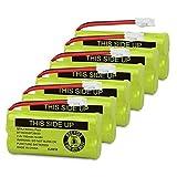 QTKJ BT18433 BT28433 BT184342 BT284342 BT-1011 Cordless Phone Battery for Vtech CS6209 CS6219 CS6229 DS6301 DS6101 BT-1018 BT-1022 AT&T CL80109 BT-6010 BT-8000 BT-8300 Uniden DCX400 Handset (6-Pack)