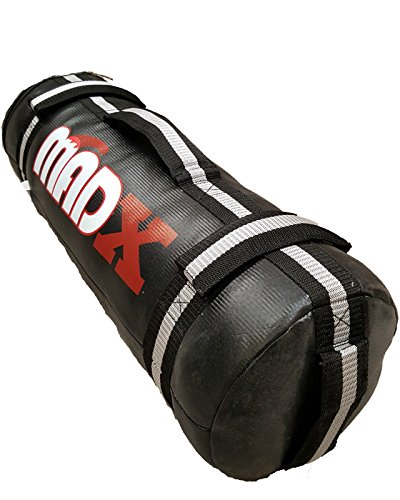 MADX - Sacco di sabbia per Crossfit e allenamento vuoto, per MMA e boxe, fitness, colore: nero/grigio