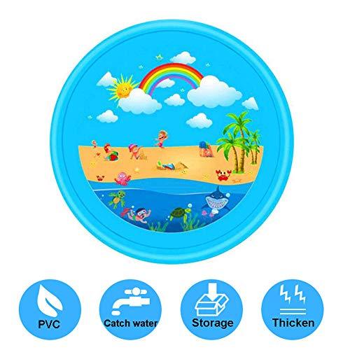 DFGHJKNN Splash Play Mat 67 in,Sprinkle And Splash Water Play Mat,Outdoor Splash Play Mat attività Sprinkler per Bambini/Animali Domestici,Blue2
