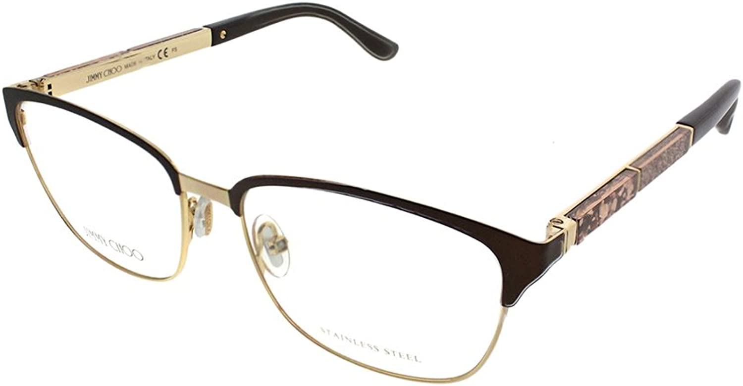 Jimmy Choo JC 192 4IN Matte Brown Metal Rectangle Eyeglasses 54mm