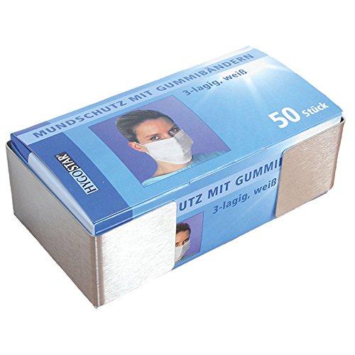 Edelstahl-Mundschutzspender, Nasen- und Mundschutzspender, Spender für Mundschutz in der Medizin, rostfrei, 1 Stück (ohne Mundschutz)
