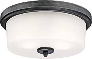 Westinghouse Lighting 63251 Cedric 33 cm Oprawa sufitowa do wewnątrz, aluminiowe wykończenie z matowego szkła, szkło, 11 ...