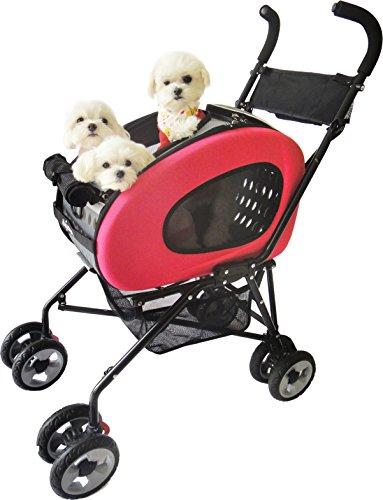 Huisdier kinderwagen, IPS-020/PINK, hond drager, trolley, Trailer, Innopet, 5-in-1 huisdier Buggy. Opvouwbare huisdier buggy, kinderwagen, kinderwagen voor honden en katten.