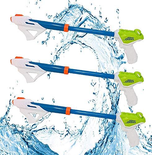 AFF 3PCS Super Water Blaster Reichweite bis zu 20 m Wasserpistolen Perfekt für den Sommer im Freien am Strand, Starke Wasserschützen für Kleinkinder, Kinder, Jungen, Mädchen, Erwachsene,Blau