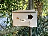 Elmato 10062 Wellensittichkobel mit Anflugstange und Nestmulde