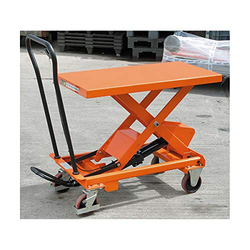 Certeo Hubtisch | Tragfähigkeit 750 kg | Hubwagen Hubplattformwagen Hubtischwagen Plattformwagen