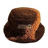 Lili El otoño y el invierno sombrero de moda de la etiqueta pequeña de lana pescador sombrero estudiante casual cálido sombrero de la cuenca de felpa