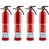 FIRST ALERT FE1A10GR195 Standard Home Fire Extinguisher, Red Pack of 4
