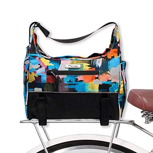 Po Campo Bags Bike Accessories – Chelsea Bike Trunk Bag – Bike Rack Bag - Waterproof Rear Rack Cargo Bike Bag – Bicycle Trunk Pannier (Nightlights)