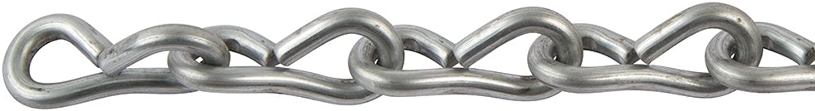 Perfection Chain Products 35011 #12 Single Jack Chain, Bright Galvanized, 50 FT Carton