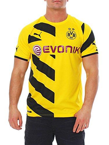 PUMA Herren Trikot BVB Home Replica Shirt, Cyber Yellow-Black, M