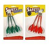 Kandall - Freccette di sicurezza a punta morbida, ideali per bambini, sport per il tempo libero per l'ufficio - 3 x rosso+3 x verde