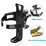 kemimoto ATV Cup Holder Metal Swivel Motorcycle Drink Holder Compatible with Sportsman Spyder Bicycle Rollator Walker Wheelchair Scooter