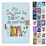 Rose-Otter Handyhülle für Kindle Paperwhite (2012-2020) 6 Zoll Hülle Tablet Leder PU Flip Hülle Kartenfach Klappbar Schutzhülle Tasche - Quote Blume