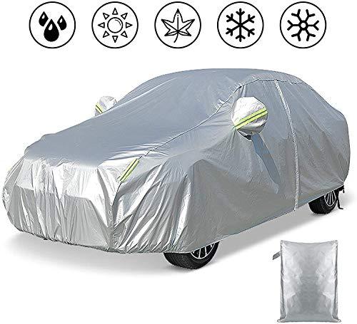 FREESOO Funda para coche de exterior, antigranizo, anti-UV, cortavientos, antipolvo e impermeable, con tiras reflectantes