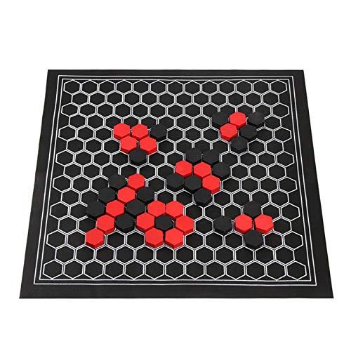 Wavel Brettspiel-Set, lustiges Familienparty-Lernspielzeug, faltbares hölzernes Sechseck-Schachspiel, Brettspiel-Geschenk