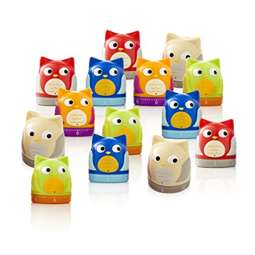 BRANDANI Owl Timer, Colori Assortiti, 20 PC Display in PP, Multicolore, Taglia Unica