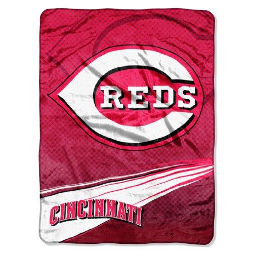 The Northwest Company MLB Cincinnati Reds Speed Plush Raschel Throw Blanket, 60x80-Inch