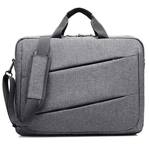 CoolBELL 17,3 Zoll Laptop Tasche Messenger Bag Umhängetasche Multifunktional Kuriertasche Arbeitstasche Herren Aktentasche Businesstasche Notebook Schultertasche Leicht Handtasche,Grau