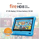 Fire HD 8 Kids tablet, 8' HD display, ages 3-7, 32 GB, Blue Kid-Proof Case