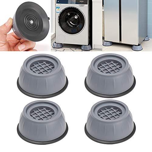 4 almohadillas antivibratorias con cancelación de ruido de choque, almohadillas antivibratorias para lavadora y secadora, antideslizantes y reducción de ruido