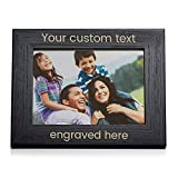 Lifetime Creations Create Your Own Personalized Picture Frame - Black (5' x 7' Landscape), Engraved Design Your Own Picture Frame