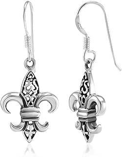 Best fleur de lis silver earrings Reviews