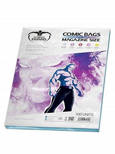 Ultimate Guard UGD020012 - Comic Bags, wiederverschließbar, Magazine Size, 100 Stück
